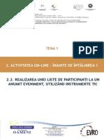 T1_2.2. Realizarea Unei Liste de Participanți