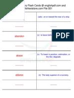 GMAT Vocabulary Flash Cards