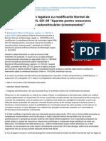 Scurte Consideratii in Legatura Cu Modificarile Normei de Metrologie Legala NML 021-05