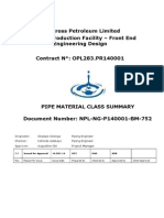 NPL-NG-P140001-BM-752 Pipe Material Class Summary_Rev 2.0