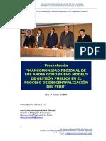 MANCOMUNIDAD REGIONAL DE LOS ANDES, Evento de Pressentación Institucional.pdf