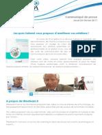 Communiqué de Presse Jacques Salomé