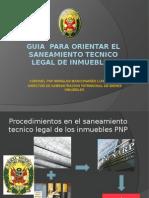 Guia de Procedimientos Para Saneamiento Tecnico Legal 24abr2013