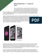 "Smartphone Libre IOS (Pantalla four. 7"", Camara 8 Megapixel, 16 GB, Dual"