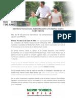 02-06-2015 Con Nerio Torres Arcila, Habitantes Del II y IV Distritos Locales Harán Historia
