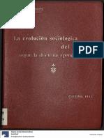 La Evolución Sociológica Del Derecho Según La Doctrina Spengleriana