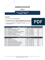 Calendário P2 - 2013.2