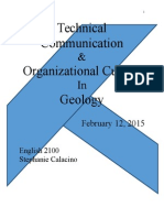 technical communication and organizational culture in geology
