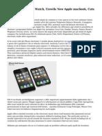 Apple Prices Apple Watch, Unveils New Apple macbook, Cuts Apple TV Cost
