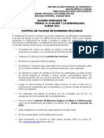 Informe Control de Calidad Ordinario de AIME