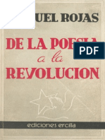 Manuel Rojas - De la poesía a la revolución