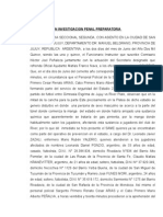 Acta Iniciacion Investigacion Penal Preparatoria