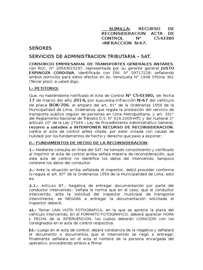 Impugnacion de Papeleta BOK-706