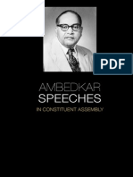 Ambedkar Speeches on Consitution of India