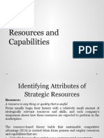 resource and capabilities