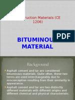 Bitumen Materials