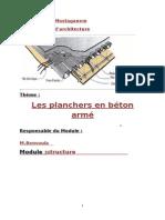 Planchers en Bc3a9ton Armc3a9 v Word