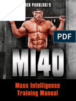 Main Training Manual For MI40