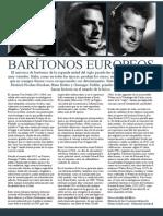 Baritonos Europeos