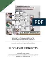 Bloque de Preguntas Guia de Estudio 2014 Temas Comunes 7 Noviembre-1