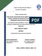EVALUACIÓN  DE BIO-INSECTICIDAS (NEEM E HIGUERILLA), PARA EL CONTROL DE LARVAS DE CULICIDOS
