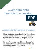 Arrendamiento Financiero o Leasing