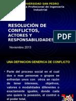 Resolución de Conflictos, Actores y Responsabilidades