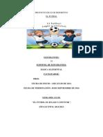 PROYECTO DE FUTBOL PARA ESTUDIANTES DE ESCUELA