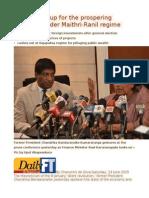 CBK Speaks Up for the Prospering Economy Under Maithri-Ranil Regime