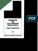 Carlo Tagliavini - Origenes de Las Lenguas Neolatinas