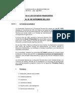 Notas Estados Financieros Al III Trim 2014