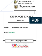 Elem II-first Distance Exam Resulto