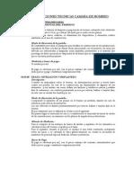 ESPECIFICACIONES TECNICAS CAMARA DE BOMBEO