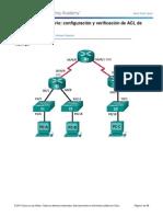 9.5.2.7 Lab - Configuracion y Verificacion de ACL de IPv6