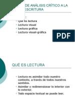 Curso de Análisis Crítico a La Lecto-escr