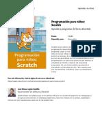 Programacion Para Ninos Scratch