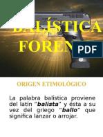 Balística Lic. Miguel Antonio Laínez