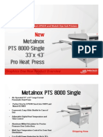 New Metalnox PTS 8000 Single Heat Press