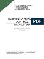 Instrumentacion Elemento Final de Control
