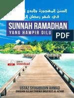 Sunnah Ramadhan (yang hampir dilupakan)
