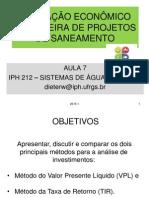 Aula 7 Avaliação Econômica Proj Saneamento Iph 212