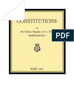The Constitutions of the Clerics Regular of St. Paul - Barnabites