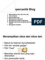 Mempercantik Blog