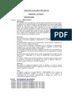 ESPECIFICACIONES TECNICAS EMISOR-PATAPO