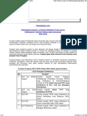 Permohonan Hadiah Latihan Persekutuan Secara Online