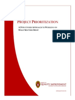 Project Prioritization Guide v 1