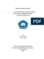 Proposal Kerja Praktek Garda Tujuh Buana
