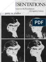 1. Fodor Jerry Representations Philosophical Essays on the Foundations of Cognitive Science Harvester Studies in Cognitive Science 1981