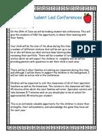 kg2f student led conference letter