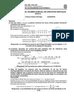 Solucionario del Examen Parcial de Circuitos Digitales